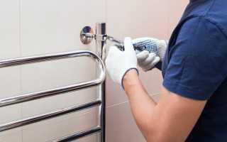 Как крепить полотенцесушитель к трубе