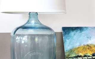 Как сделать настольную лампу из бутылки