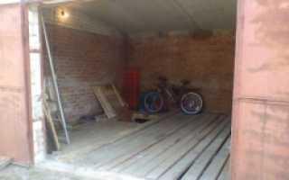 Как положить пол в гараже из досок