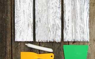 Как покрасить доски под старину