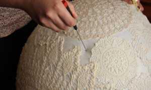 Как отремонтировать абажур настольной лампы