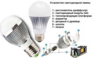 Почему мигает светодиодная лампа при выключение света