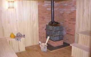 Как правильно установить железную печь в баню