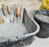 Как замесить бетон вручную пропорции