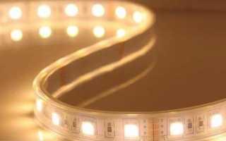 Как закрепить светодиодную ленту на потолке