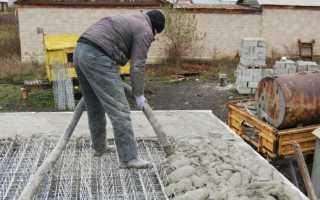 Сколько стынет бетон
