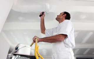 Как подготовить потолок к побелке