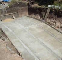 Как залить бетон под углом