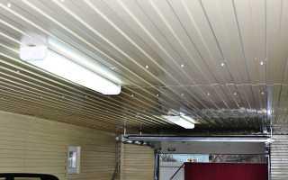 Как сделать потолок в гараже своими руками
