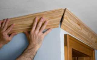Как правильно разрезать потолочный плинтус в углах