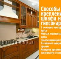 Как вешать кухонные шкафы на гипсокартон