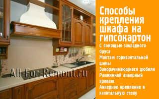 Как повесить кухню на гипсокартон