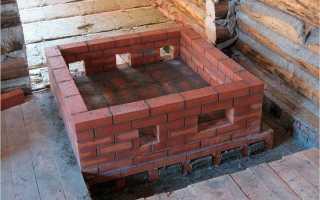 Как правильно построить печь в бане