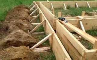 Как установить опалубку для ленточного фундамента