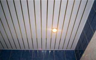 Как зашить потолок пластиковыми панелями
