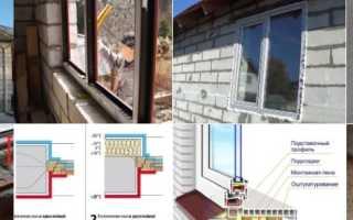 Как вставить окна в доме из газобетона