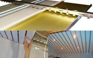 Как крепить реечный потолок в ванной
