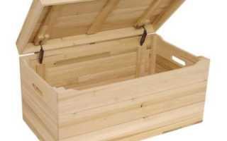 Как сколотить ящик из досок
