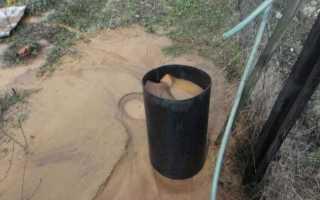 Как промыть скважину от песка после забивки