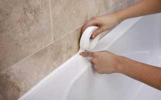 Как приклеить бордюр на ванну из пластика