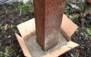Как залить фундамент под забор