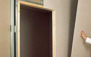 Как установить перегородку из гипсокартона с дверью