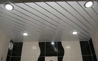 Реечный потолок в ванной комнате какой выбрать
