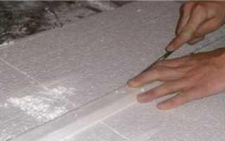 Как резать пенопласт нихромовой проволокой