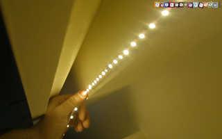 Как закрепить светодиодную ленту на стене