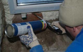 Какой пеной лучше запенивать пластиковые окна