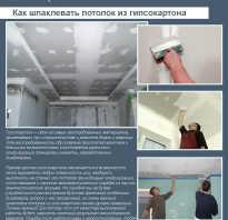 Как правильно шпаклевать потолок из гипсокартона