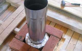 Как утеплить дымоходную трубу из оцинковки