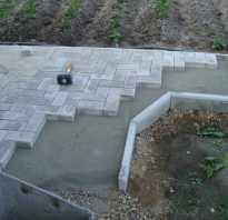 Как положить тротуарную плитку на бетон