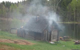 Как затопить баню на дровах