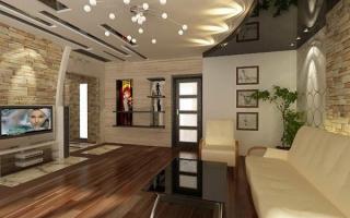 Какой потолок лучше сделать в зале