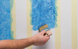 Как правильно красить обои под покраску