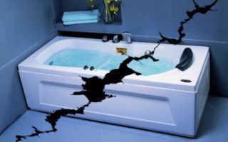 Как отремонтировать акриловую ванну своими руками