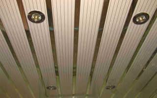 Как монтировать реечный потолок
