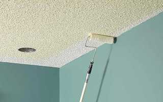Как белить потолок водоэмульсионной краской