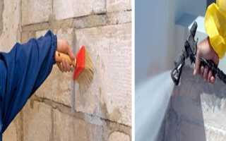 Как покрасить стену под кирпич