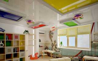 Какой потолок лучше сделать в детской комнате