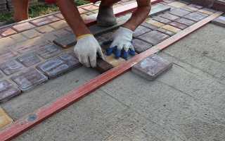 Можно ли класть тротуарную плитку на бетон