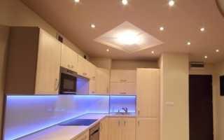 Какие светильники подходят для натяжных потолков
