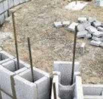 Как залить фундамент под дом из блоков