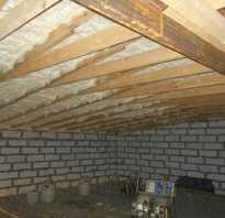Как утеплить крышу гаража снаружи
