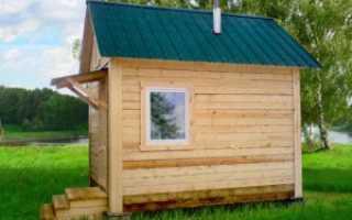 Как построить небольшую баню на дачном участке