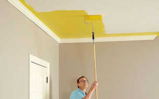 Как быстро побелить потолок водоэмульсионной краской