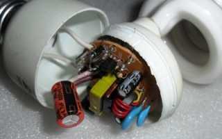 Почему моргает энергосберегающая лампочка после выключения