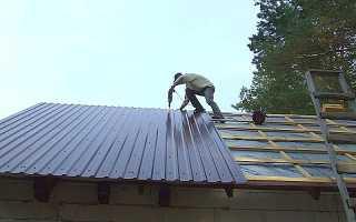 Как правильно прикрутить профнастил на крышу