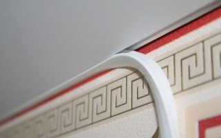 Как вставить резинку в натяжной потолок